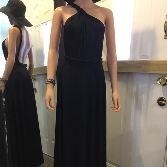GOODTIME Dresses & Skirts - GOODTIME Black Vintage Backless Slinky Long Dress